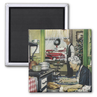 Old Fashioned Vintage Home Kitchen Holiday Magnet