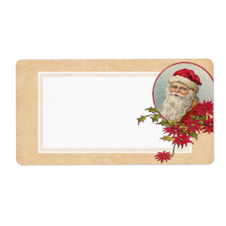 Old Fashioned Vintage Santa  Shipping Label