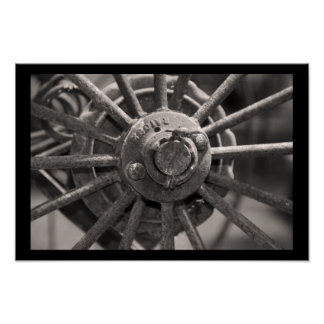 Old Fashioned Wagon Wheel Poster