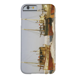 Old-fashioned, weathered fishing boats beached barely there iPhone 6 case
