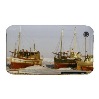 Old-fashioned, weathered fishing boats beached iPhone 3 Case-Mate case