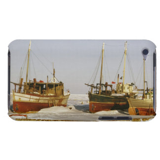 Old-fashioned, weathered fishing boats beached iPod touch Case-Mate case