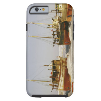 Old-fashioned, weathered fishing boats beached tough iPhone 6 case