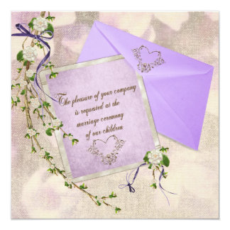 Old-Fashioned Wedding Invite