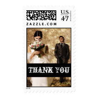 Old Fashioned Wedding Thank You Photo Postage