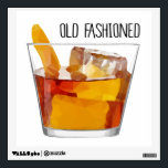 """Old Fashioned Whiskey Cocktail Wall Decal<br><div class=""""desc"""">This beautiful low-poly geometric &quot;Old Fashioned&quot; wall decal is highly versatile and will add a little fun to any room.</div>"""