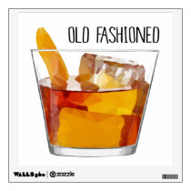 Old Fashioned Whiskey Cocktail Wall Decal