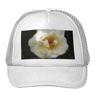Old Fashioned White Rose 1 Inspiration Trucker Hats