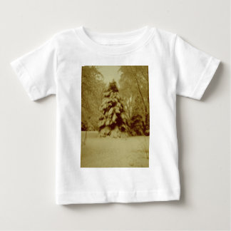 Old Fashioned Winter Snow Baby T-Shirt