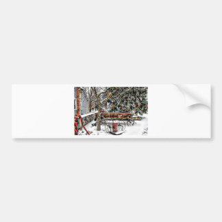 Old Fashioned Winter Wonderland Bumper Sticker