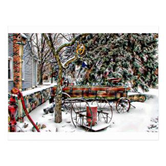 Old Fashioned Winter Wonderland Postcard