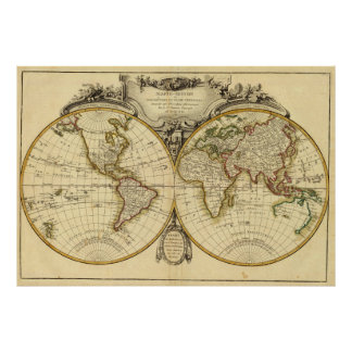 Old Fashioned World Map (1782) Print