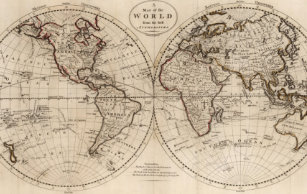 Make your own vintage world map blanket bundle up in yours today old fashioned world map 1795 throw blanket gumiabroncs Choice Image