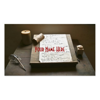 Old Fashioned Writing Double-Sided Standard Business Cards (Pack Of 100)