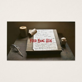 Old Fashioned Writing Business Card
