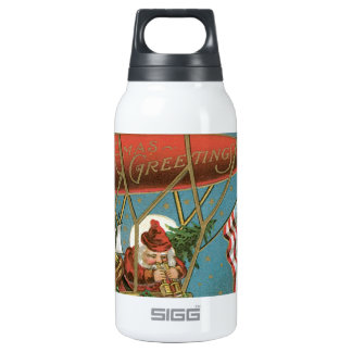 Old Fashioned X-Mas Greetings American Santa Thermos Bottle
