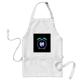 Old Fashioned X-Ray Clock Original Negative Adult Apron
