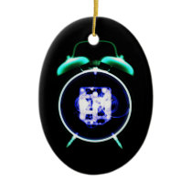Old Fashioned X-Ray Vision Alarm Clock - Original Ceramic Ornament