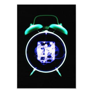"Old Fashioned X-Ray Vision Alarm Clock - Original 3.5"" X 5"" Invitation Card"