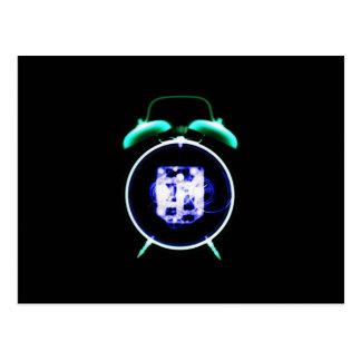 Old Fashioned X-Ray Vision Alarm Clock - Original Postcard