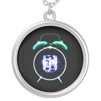 Old Fashioned X-Ray Vision Alarm Clock - Original Round Pendant Necklace
