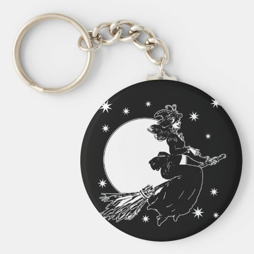 Old Fashoned Witch Basic Round Button Keychain