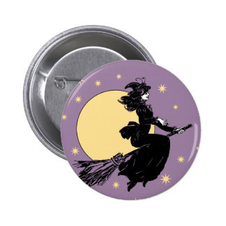 Old Fashoned Witch Button