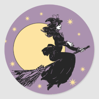Old Fashoned Witch Classic Round Sticker