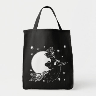Old Fashoned Witch Grocery Tote Bag