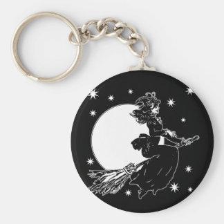 Old Fashoned Witch Keychain
