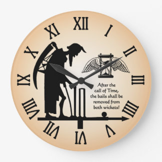 Old Father Time Cricket Clock