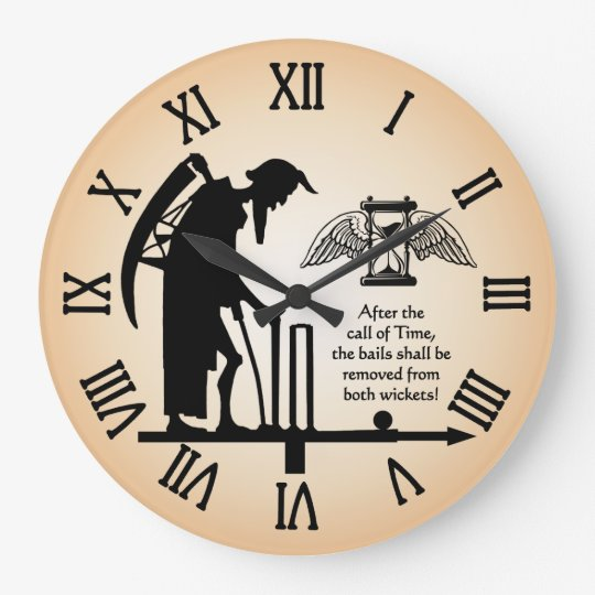 Old Father Time Cricket Clock Zazzle Com