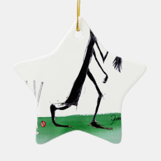old father time - cricket, tony fernandes ceramic ornament