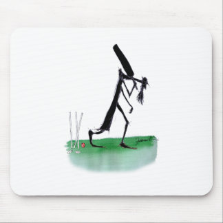 old father time - cricket, tony fernandes mouse pad