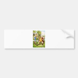 Old Father William From Alice in Wonderland Car Bumper Sticker