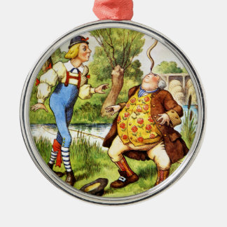 Old Father William From Alice in Wonderland Metal Ornament