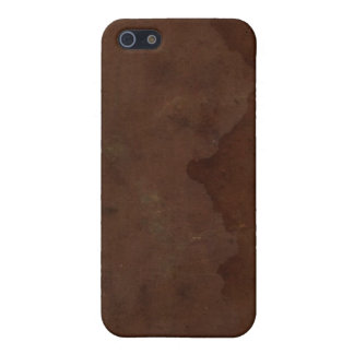 Old Faux Leather Book Cover 1 iPhone 4 Case