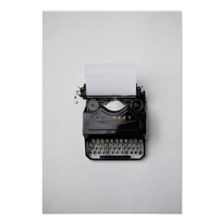 Old Favorit Typewriter Poster