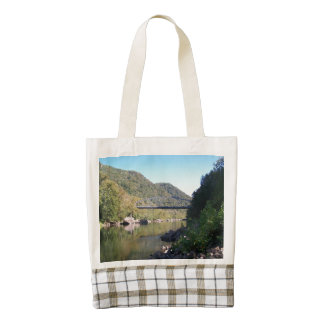 Old Fayette County Bridge Zazzle HEART Tote Bag