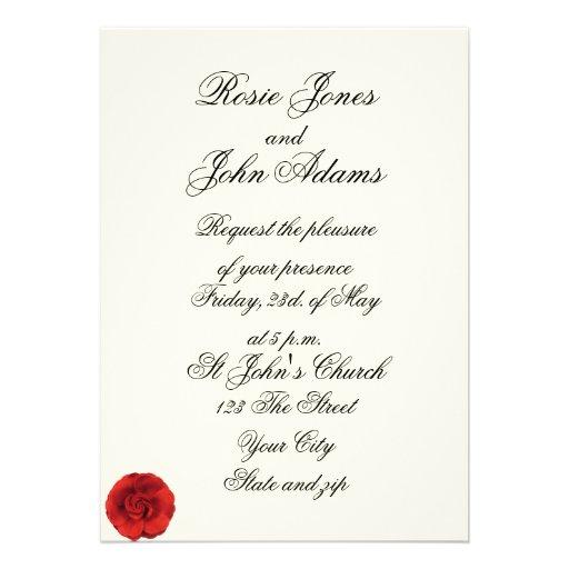 Simple But Elegant Wedding Invitations: Old Feel Elegant Simple Wedding Invitation Custom