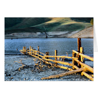 Old fence in Eidon Weir, Bonnie Doon, Victoria, Au Greeting Card