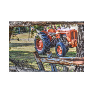 OLD FIAT TRACTOR QUEENSLAND AUSTRALIA ART EFFECTS CANVAS PRINT