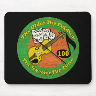 Old Fiddler 100th Birthday Gifts Mouse Mat