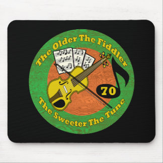 Old Fiddler 70th Birthday Gifts Mouse Pad