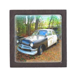 Old Fifties Highway Patrol Police Car Premium Gift Box
