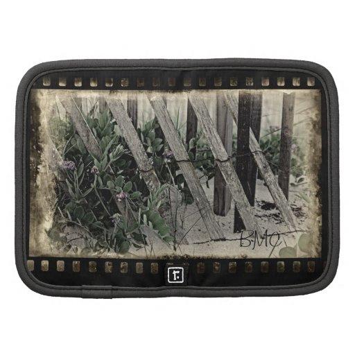 Old Film Beach Fence Day Planner/Folio