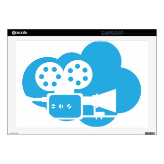 """Old film camera Cloud Icon Vector Decal For 17"""" Laptop"""