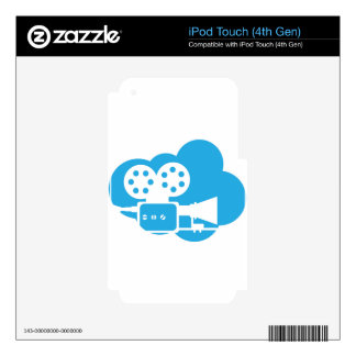 Old film camera Cloud Icon Vector Skins For iPod Touch 4G