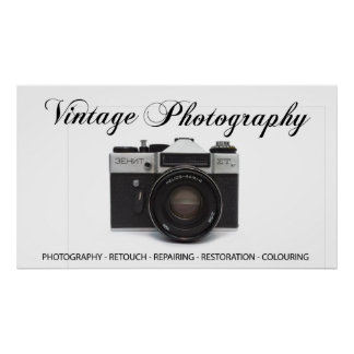 Old film camera poster
