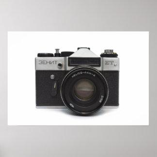 Old film camera print